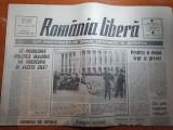 Ziarul romania libera 25 februarie 1990-armata reintra speram ,in cadenta