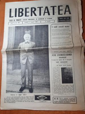 libertatea 4 august 1990- ion ratiu  maresalul antonescu,poezie adrian paunescu foto