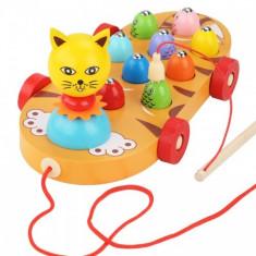 Joc de pescuit din lemn - Pisica