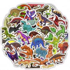Set Stickere laptop dinozauri (telefon, auto, bicicleta) 50 buc