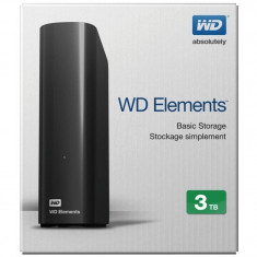 Hdd extern wd 3tb elements 3.5 usb3.0 negru