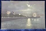 CONSTANTA - VEDEREA CAZINOULUI DINSPRE MARE , CARTE POSTALA ILUSTRATA , POLICROMA , CIRCULATA , DATATA 1922