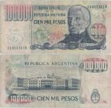 1980 , 100,000 pesos ley ( P-308b ) - Argentina