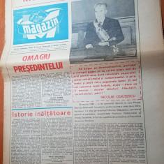 ziarul magazin 30 martie 1980-omagiu presedintelui nicolae ceausescu