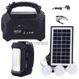 Kit Solar Lanterna LED Radio FM USB SD 3 Becuri 4V4Ah GDPlus GD8161