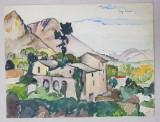 LUCRETIA MIHAIL SILION , PEISAJ LUMINOS , ACUARELA , 1928
