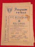 Program meci fotbal PETROLUL PLOIESTI - RELONUL SAVINESTI (07.11.1976)
