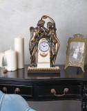 Ceas Art Nouveau cu doua statuete IS080