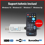 Tuner TV Digital USB - v2018.4 - HBO HD - DVB-C DVBC T2 - suport tehnic, Extern (necesita PC)