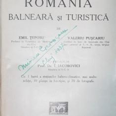 Romania balneara si turistica, Emil Teposu si Val.Puscariu ,1932