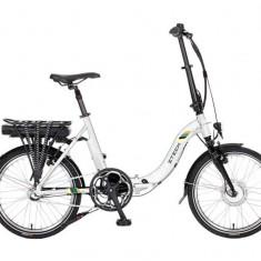 Bicicleta electrica pliabila cu cadru aluminiu ZT-71 URBAN ALB 36V-6,6Ah Li-Ion