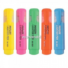Set 12 Marker fluorescent Highlither evidentiere text 5mm SG1017