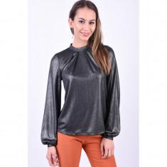 Bluza Eleganta Pieces Beatrice T-Neck Argintiu Inchis, L, M, S, XL, XS