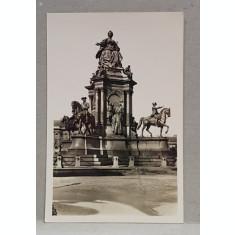 VIENA , MONUMENTUL MARIEI TEREZA , CARTE POSTALA ILUSTRATA , MONOCROMA, NECIRCULATA , DATATA SEPTEMBRIE 1934