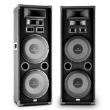 "Auna PA-2200 set de 2-game complete HiFi PA Speaker 2x12 ""Woofer 2000W max."