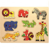 Cumpara ieftin Baby Mix Puzzle din lemn 10m+ Safari