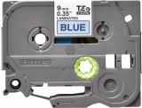 Banda continua laminata Brother TZE521 9mm 8m Negru pe Albastru