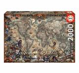Cumpara ieftin Puzzle Pirates Map, 2000 piese, Educa
