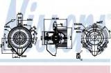 Ventilator, habitaclu FIAT DOBLO Cargo (223) (2000 - 2016) NISSENS 87131