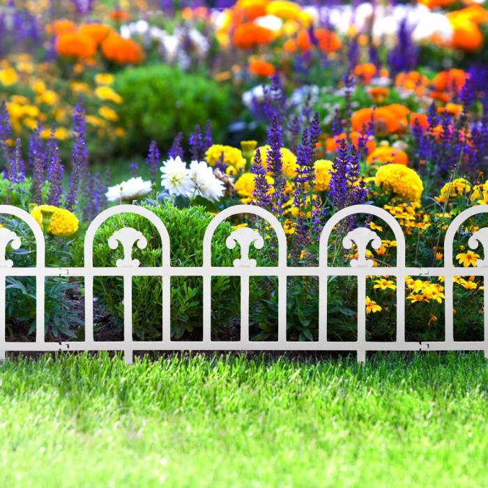 Bordura pt. pat de flori / gard - 60 x 30 - alb Best CarHome