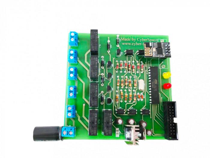 Placa de dezvoltare cu relee, ESP8266, Programator USBASP, compatibila Arduino IDE
