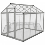 Coteț pentru păsări de exterior, aluminiu, 178 x 242 x 192 cm, vidaXL