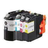 Set 4 cartuse Brother LC227XLBK LC225XLC LC225XLM LC225XLY compatibile, Multicolor, Compatibil