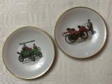 Doua farfurioare din portelan german WINTERLING masini de epoca