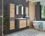 Set Mobilier pentru baie, 6 piese, Ibiza Antracit