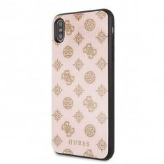 Husa Premium Guess Glitter iPhone XS Max Roz Crem