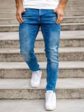 Blugi bleumarin bărbati skinny fit Bolf KX501