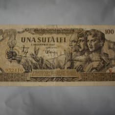 100 lei 1947 una suta lei / 5 decembrie 1947