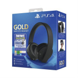 Casti Gaming Wireless Sony Playstation 4 Gold 7.1 Usb 3.5 Mm Negre