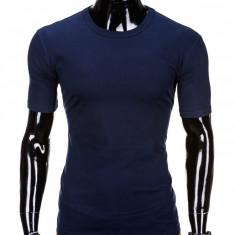 Tricou barbati, bumbac - S970-bleumarin