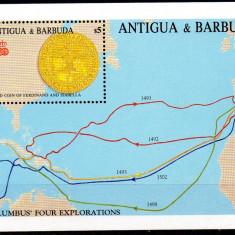 ANTIGUA&BARBUDA 1988, Columb, Monede, serie neuzata, MNH