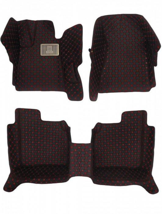 Covorase presuri 5D din piele Bmw X5 F15 2014-2018 Lux Tip Tavita dedicate Negru+Rosu