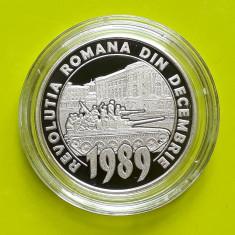 50 bani 2019 PROOF 30 ani de la Revolutia romana din decembrie 1989 UNC capsula