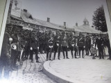 Fotografie veche militari in tinuta parada SERGENTI,SOLDATI,OFITERI,1928,T.GRAT