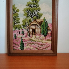 Goblen, rama lemn, fara sticla 41x33 cm