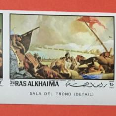 RAS AL KHAIMA 1970 TIEPOLO - SERIE COMPLETA NESTAMPILATA MNH, IMPERF