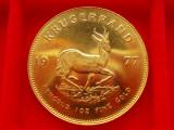 MONEDA AUR  1 Ounce Krugerrand 1977, Africa