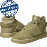 Pantofi sport Adidas Originals Tubular Invader Strap pentru barbati - piele, 40 2/3, Piele intoarsa
