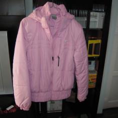 Geaca de dama pentru iarna cu gluga, marca NIKE, marimea 42-44, culoare roz