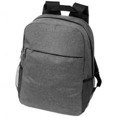 Rucsac Laptop, Everestus, HS, 15.6 inch, 600D poliester si pvc, gri, saculet de calatorie si eticheta bagaj incluse