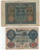 Bancnote Germania-20 , 100 marci 1914,1920