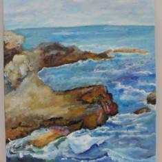Peisaj marin-pictura ulei pe placaj