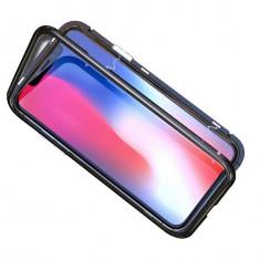 Husa telefon, magnetica, neagra, pentru iPhone X sau iPhone XS