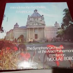 DISC VINIL MENDELSSOHN BARTHOLDY - SIMFONIA NR 5 NICOLAE BOBOC