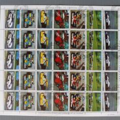 PARAGUAY- Masini de Cursa-1Coala(5 serii posta normala).OBLITERATE - WS 165