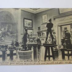 Muzeul Simu/Bucuresti,carte postala circulata 1937